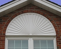 Half-round window trim
