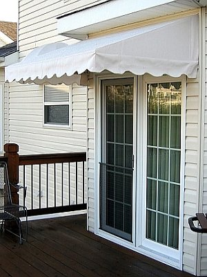 Lovely Great For Decks, Patios And Front Doors! Round Top Awning