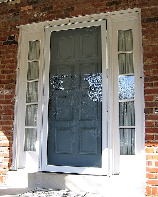 J j siding and window sales inc storm doors page for Full glass screen door